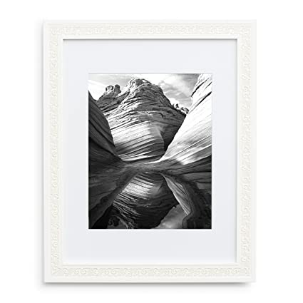 Amazon.com - 11x14 Picture Frame White - Matted to 8x10, Frames by ...