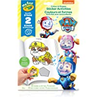Crayola My First Colour and Shapes Sticker Activities, Paw Patrol,  for Toddlers, for Girls and Boys, Gift for Boys and Girls, Kids, Ages 3, 4, 5,6 and Up, Holiday Gifting, Stocking Stuffers, Arts and Crafts, Easter Basket Stuffers, Easter Gifting