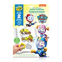 Crayola My First Colour and Shapes Sticker Activities, Paw Patrol,  for Toddlers, for Girls and Boys, Gift for Boys and Girls, Kids, Ages 3, 4, 5,6 and Up, Holiday Toys, Arts and Crafts