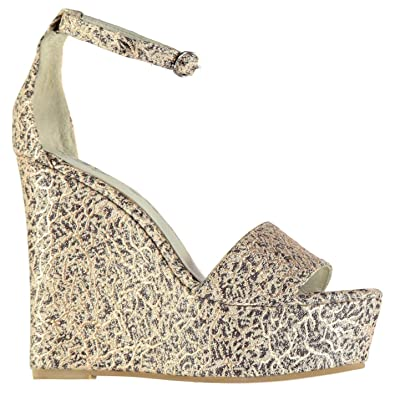 f65a4fbb1a Jeffrey Campbell Anya Wedge Sandal Shoes Womens Nude Fashion Footwear (UK7)  (EU40)