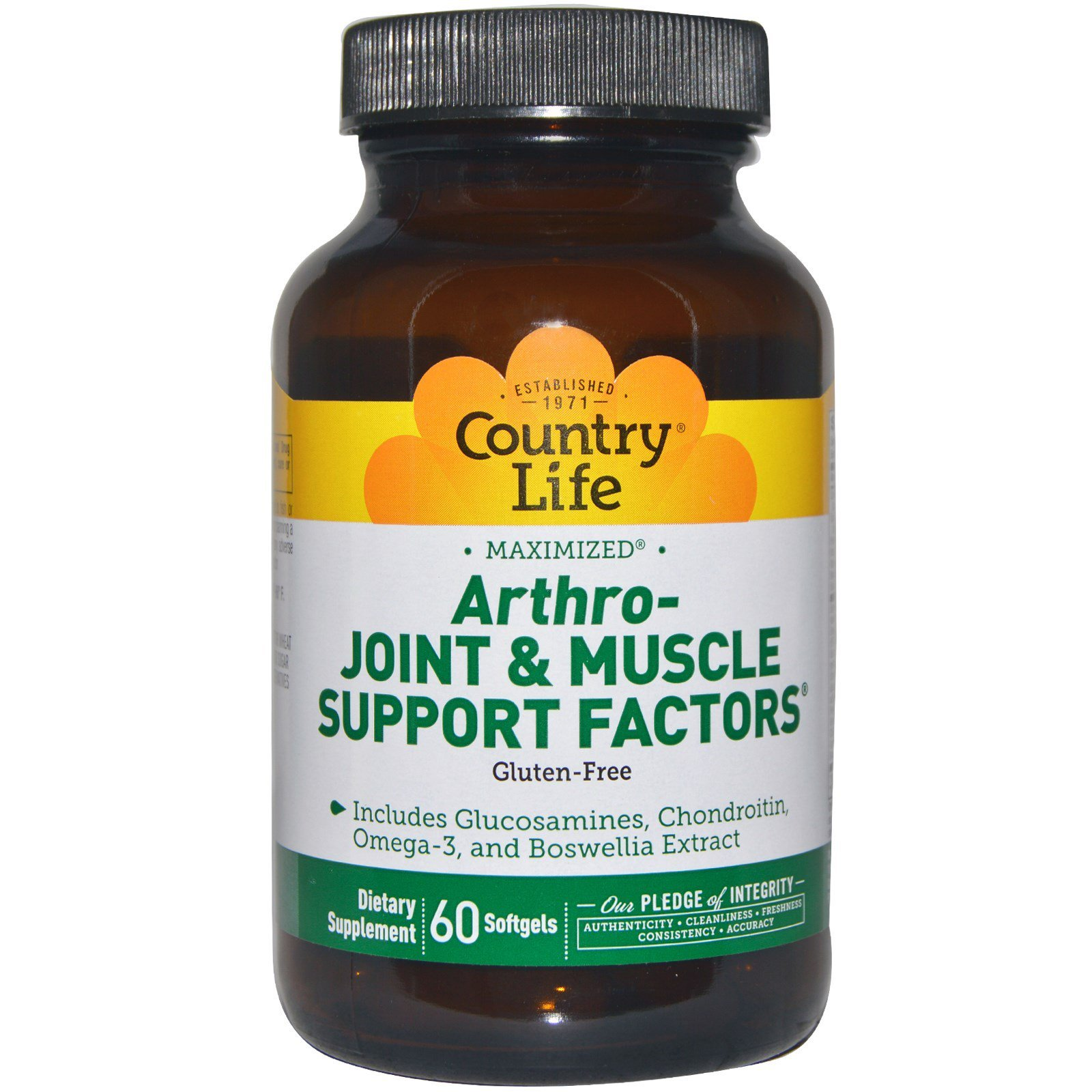 Country Life, Arthro - Joint & Muscle Support Factors, 60 Softgels