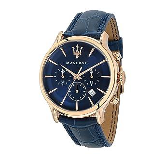 Maserati R8871618007 - Reloj de Pulsera Hombre, Color Azul: Maserati: Amazon.es: Relojes