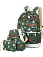 Leaper Cute Thickened Canvas School Backpack Laptop Bag Shoulder Daypack Handbag