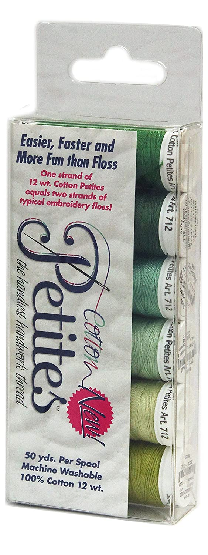 Cotton Petites-Six Pack-Greens Assortment Sulky Sampler 12 WT