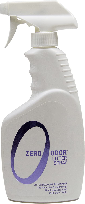 Zero Odor Litter Box Odor Eliminator, Trigger Spray, 16 ounces