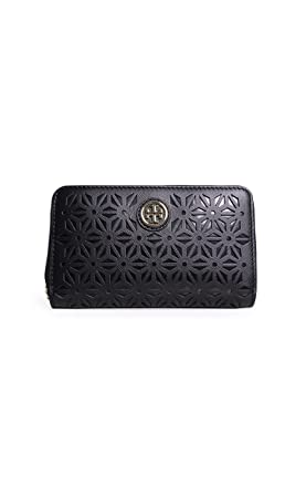 49a2445613f5 Image Unavailable. Image not available for. Color  Tory Burch Robinson  Floral Perforated Smartphone Wristlet ...