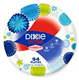 Dixie Everyday Paper Plates, Dessert Plates, 6 7/8 Inch Plates, 94 Count
