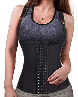 af69ac81b5 Eleady Womens Waist Trainer Corset Vest Slimmer Body Shaper Shapewear for  Tummy Control Postpartum Girdle