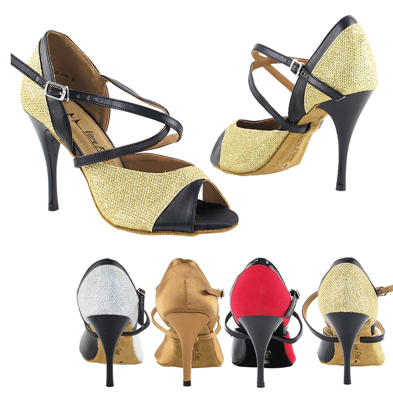 """50 Shades 2828 Comfort Evening Dress Pump Sandals, Women Ballroom Dance Shoes (2.75"""", 3"""" & 3.5"""" High Heels)"""