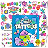 Easter Temporary Tattoos Party Favor Pack -- Over 50 Tattoos (Easter Bunny, Chicks, Easter Eggs and More!)