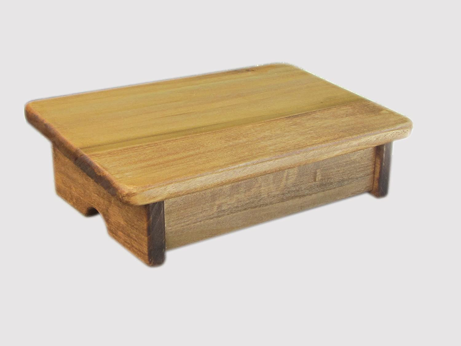 """KR Ideas Comfort Foot Stool, 4"""" Tall (Made in The USA) (Maple)"""