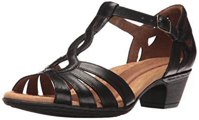 3714539275626 Amazon.com | Cobb Hill Women's Abbott Curvy T Sandal | Heeled Sandals