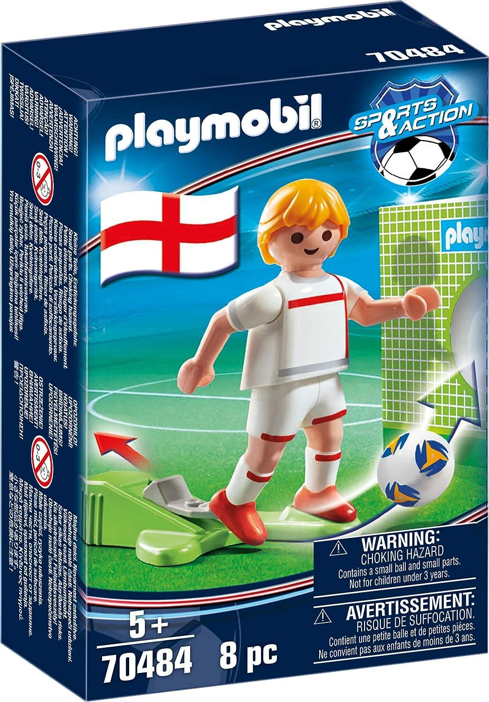 PLAYMOBIL-Jugador de fútbol, Inglaterra (70484), color u.k