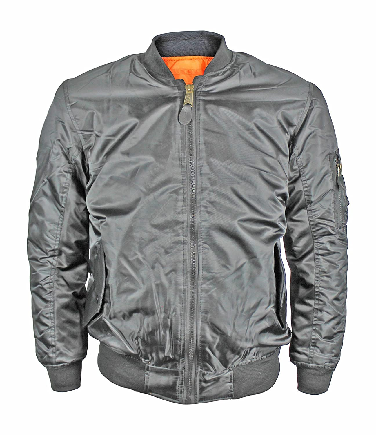 Maximos New Men s Water Resistant Reversible Flight Pilot Bomber Jacket at  Amazon Men s Clothing store  540b14c2ff