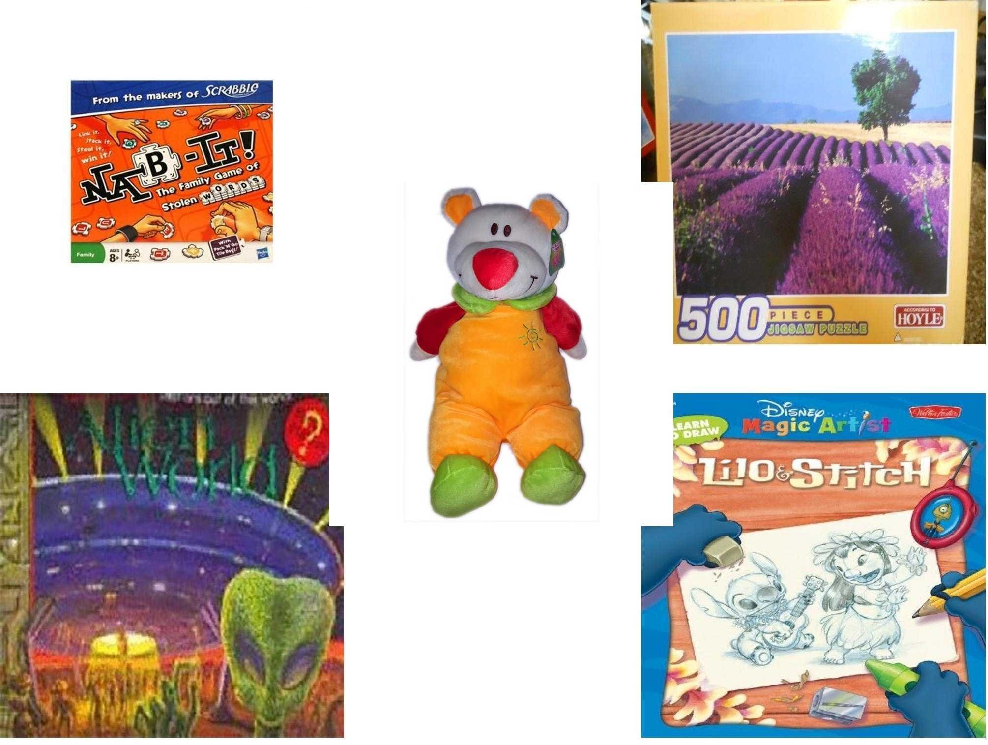 Children's Fun & Educational Gift Bundle - Ages 6-12 [5 Piece] - Includes: Game - Toy - Plush - Hardcover Book - Paperback Book - No. dbund-6-12-30586