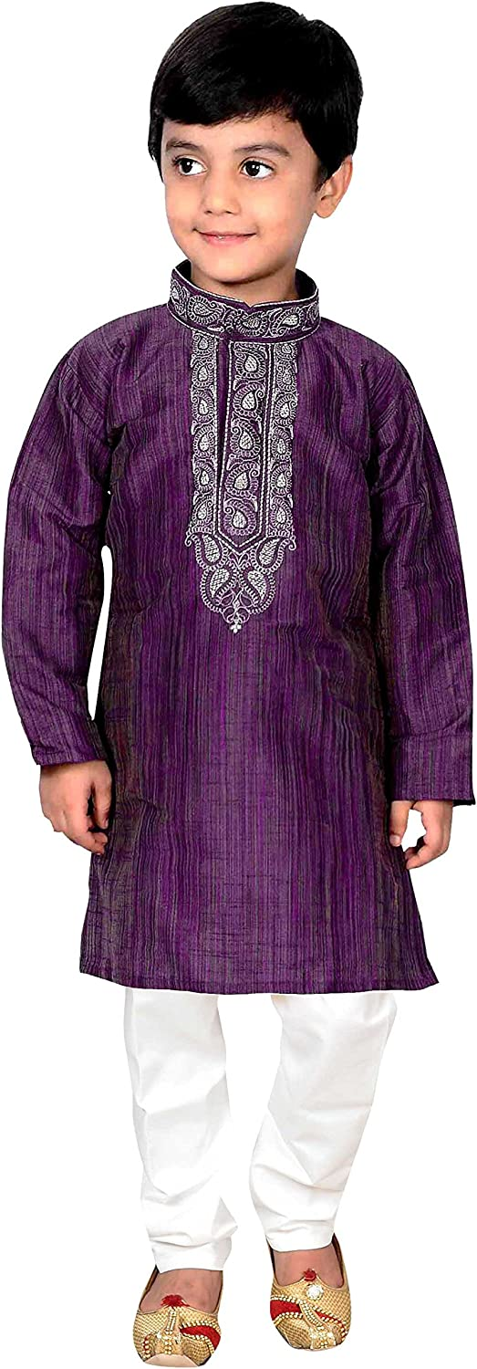 Purple Indian Boys Sherwani Kurta with Churidar for Bollywood party 884