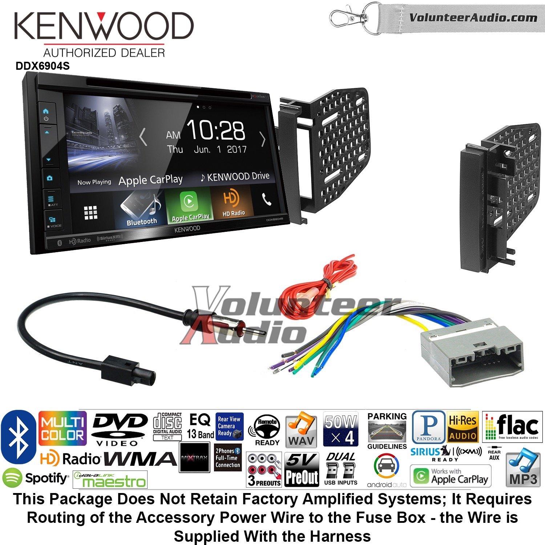 ボランティアオーディオケンウッドExcelon ddx6904sダブルDINラジオキットをインストールSatellite Bluetooth & HDラジオFits 2009 – 2010 RAM 2011 – 2014クライスラー200 (Ref、Rec、およびRak工場無線機) B07C237RB5
