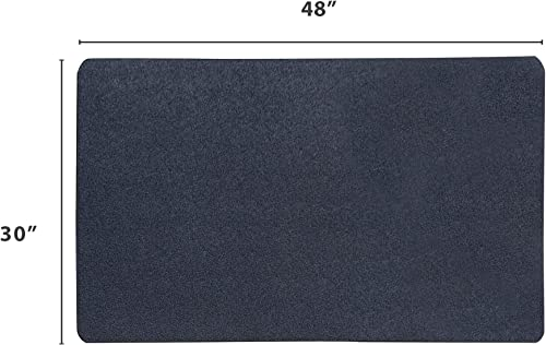 VersaTex Multi-Purpose Rubber Floor Mat for Indoor or Outdoor Use, Utility Mat for Entryway, Home Gym, Exercise Equipment, Tool Box Liner, Garage Mat, Under-Sink, Patio, and Door Mat 30 x 48 , Black
