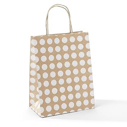 Amazon Halulu 8x475x10 50 Pcs Kraft Paper Bags Shopping Bags