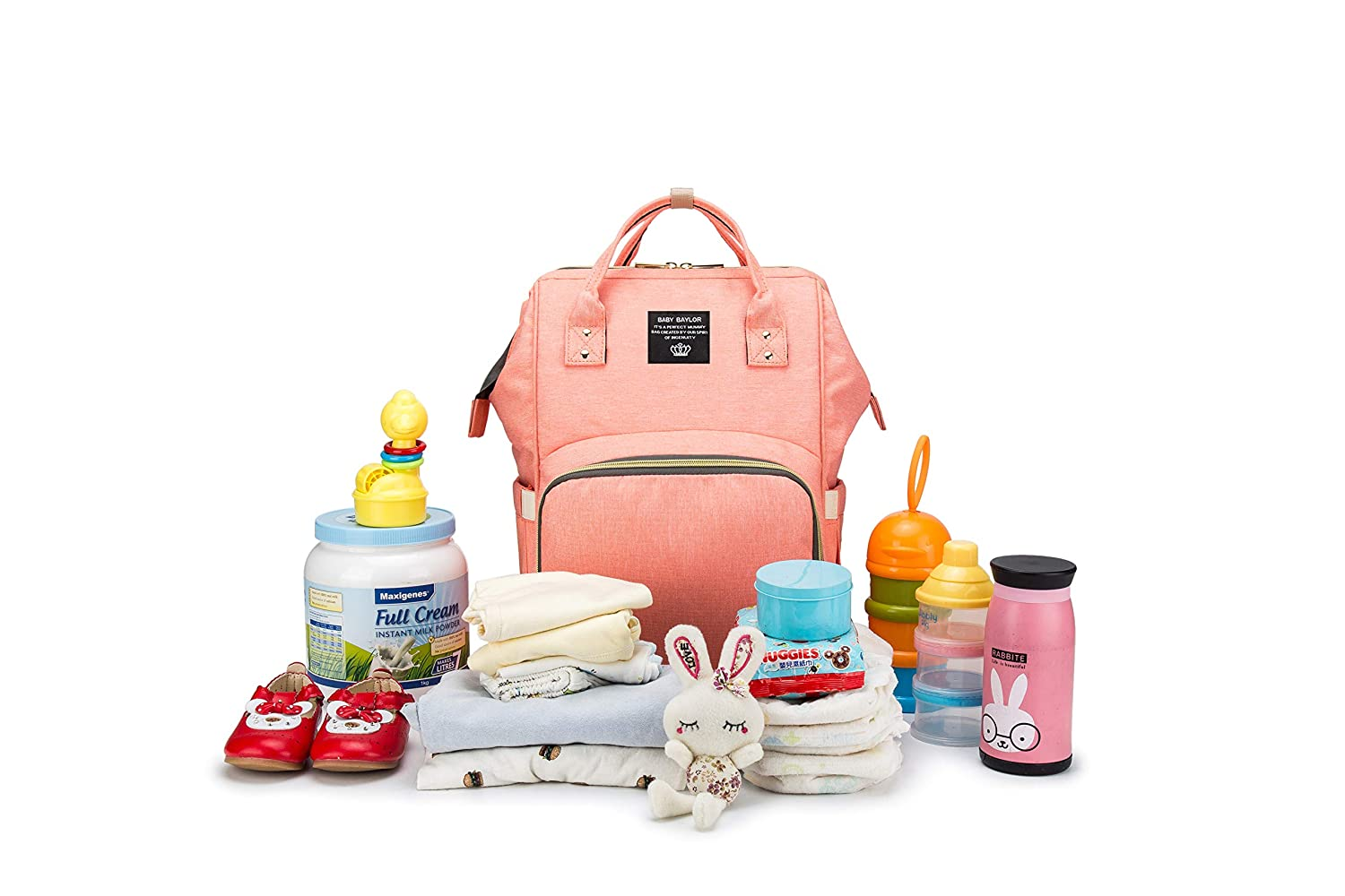 Diaper Bag Backpack Multi-Function Waterproof Travel Backpack Maternity Baby Nappy Changing Bags, Large Capacity,Multi-Function, Fashion and Durable