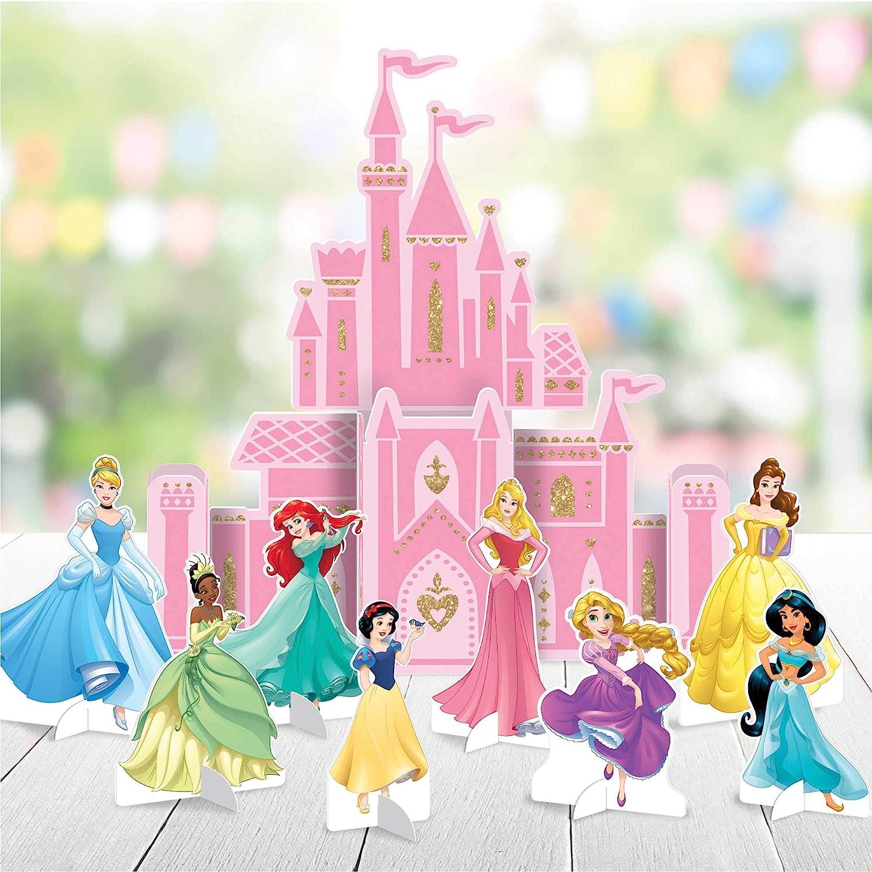 "Amscan""Disney Princess"" Pink Castle Party Table Decoration Kit, 9 Pc, 282357"