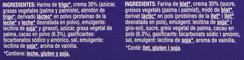 Gourmet - Sandwich - Galletas de cacao rellenas de crema - 176 g - 4 paquetes: Amazon.es: Alimentación y bebidas
