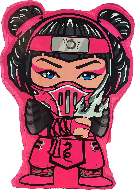 Aztec Pink Ninja Kid Pinata
