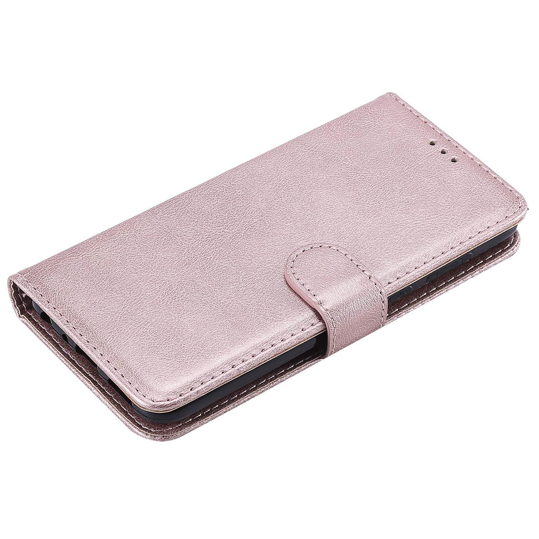 /Étui Housse Portefeuille Magnetique Antichoc avec Fonction de Support et Coque Souple pour Huawei P Smart NEXCURIO Coque Huawei P Smart Cuir PU /à Rabat NEKTU20332 Violet