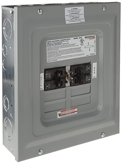amazon com: generac 6333 60-amp single load double pole manual transfer  switch for portable generators: garden & outdoor