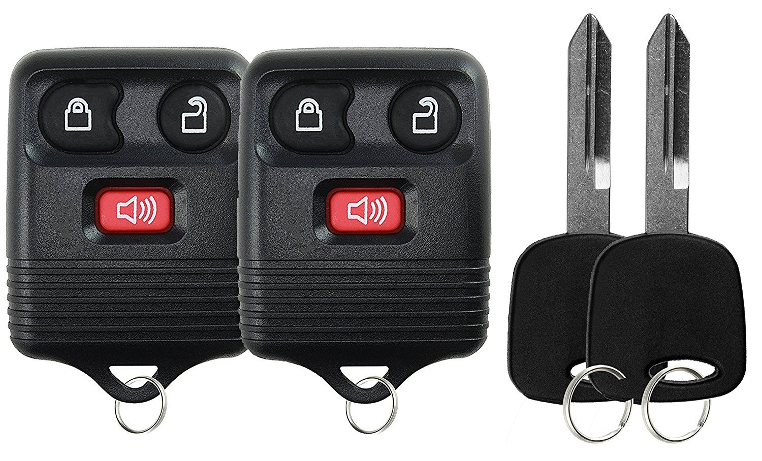 KeylessOption Keyless Entry Remote Control Fob Uncut Blank Car Ignition Key For GQ43VT11T CWTWB1U345 Pack of 2