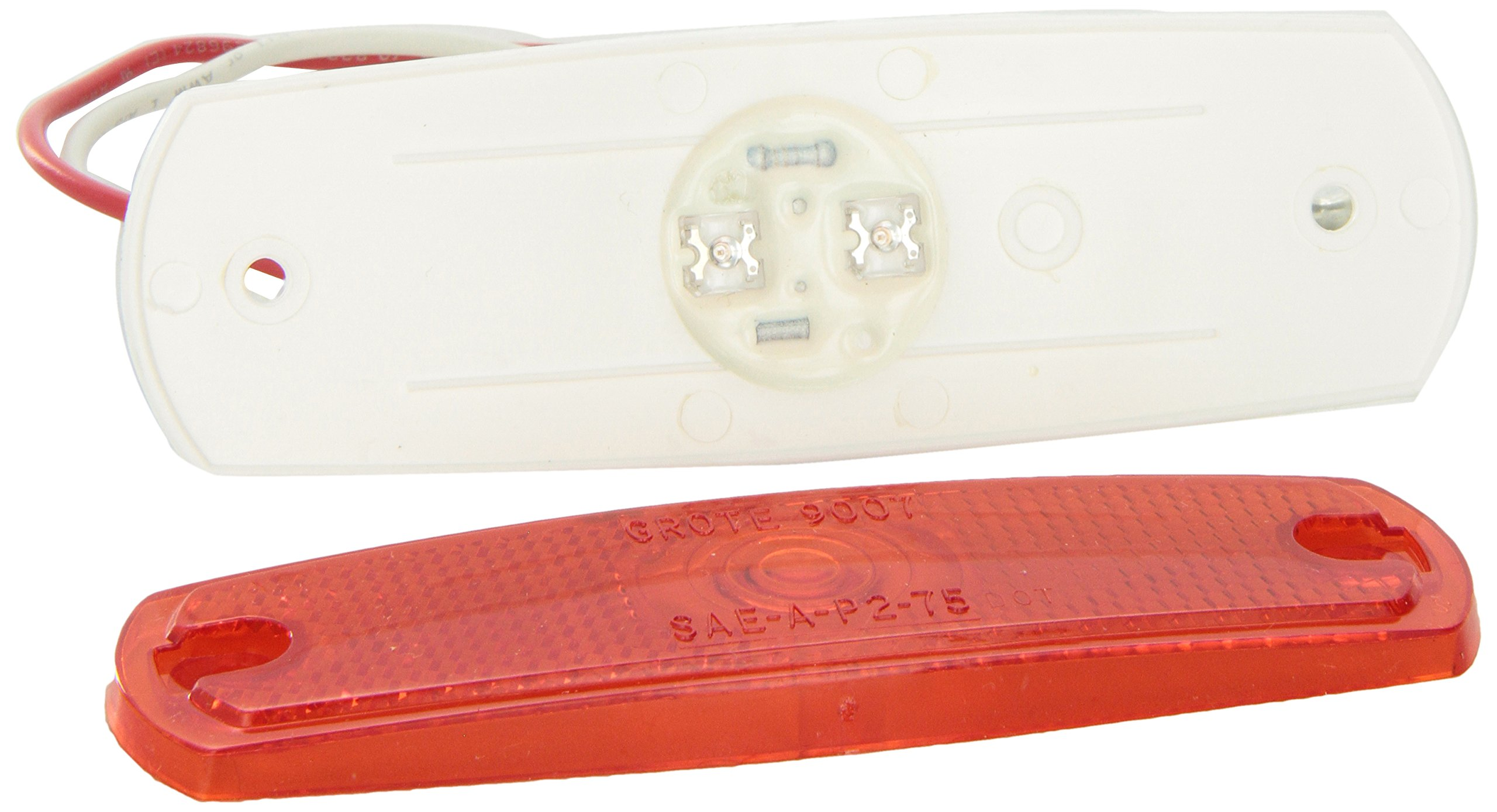 Grote 47262 Red SuperNova Low-Profile LED Clearance Marker Light (out Bezel) by Grote (Image #2)