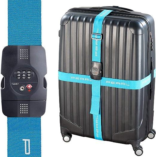 Gep/äckgurt 5 * 180 cm Zum sicheren Verslie/ßen der Koffers auf Reisen Verstellbare Kofferband Koffergurt Inklusive 3 Jahren Geld-zur/ück-Garantie 4 Pack Black 4 Pack