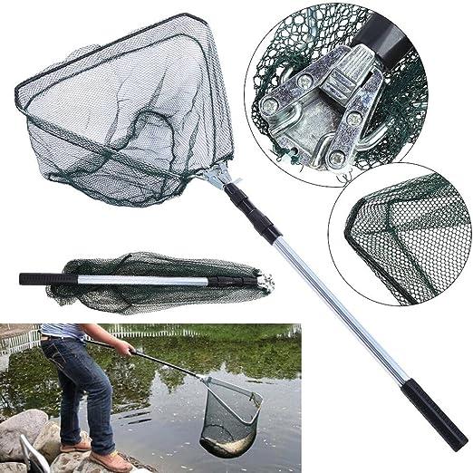 Telescopic Lightweight Folding Fishing Landing Net Extending Pole Micro Mesh Uk