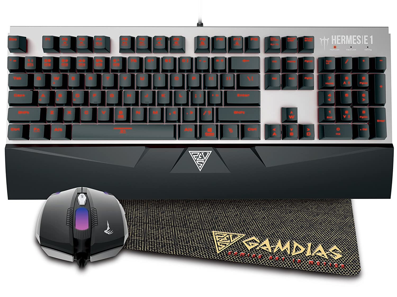 Gamdias Hermes E1 Mechanical Keyboard And Mouse With Pad Buy Gaming E Blue Value Pack Online At Low Price In