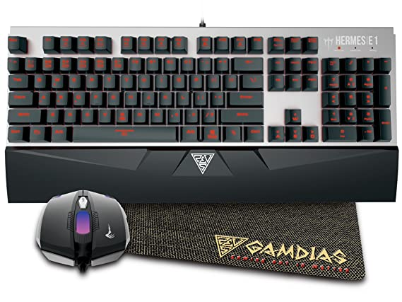 Gamdias Mechanical Keyboard HERMES E1 + 3200 DPI Mouse Combo: Amazon.es: Electrónica