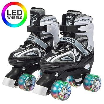 Apollo Super Quad X Pro, Patines LED para niños y Adolescentes, Ideales para Principiantes, cómodos Patines para niños y niñas: Amazon.es: Deportes y aire ...
