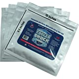 "4 Mid Size Cooler Shock Freeze Packs 10""x 9"" - No More Ice! Reusable. You Add Water & Save!"