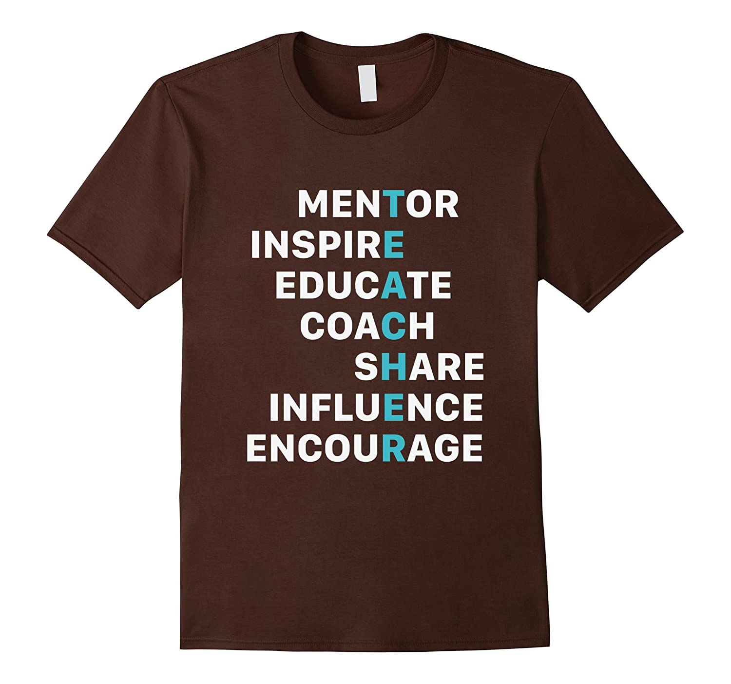 Teacher Mentor Inspire Educate Coach T Shirt Birthday Gift RT