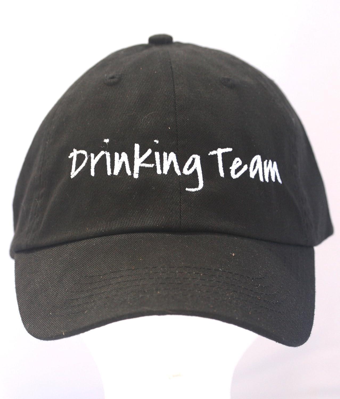 2b508c671 Amazon.com: Drinking Team - Black Embroidered Ball Cap: Clothing