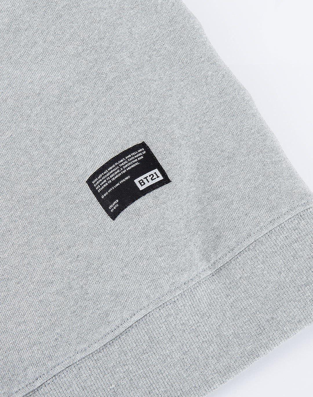 5b53281b7203 Amazon.com: BT21 Tata Basic Graphic Sweatshirts (Designed by BTS V)  (Large): Clothing