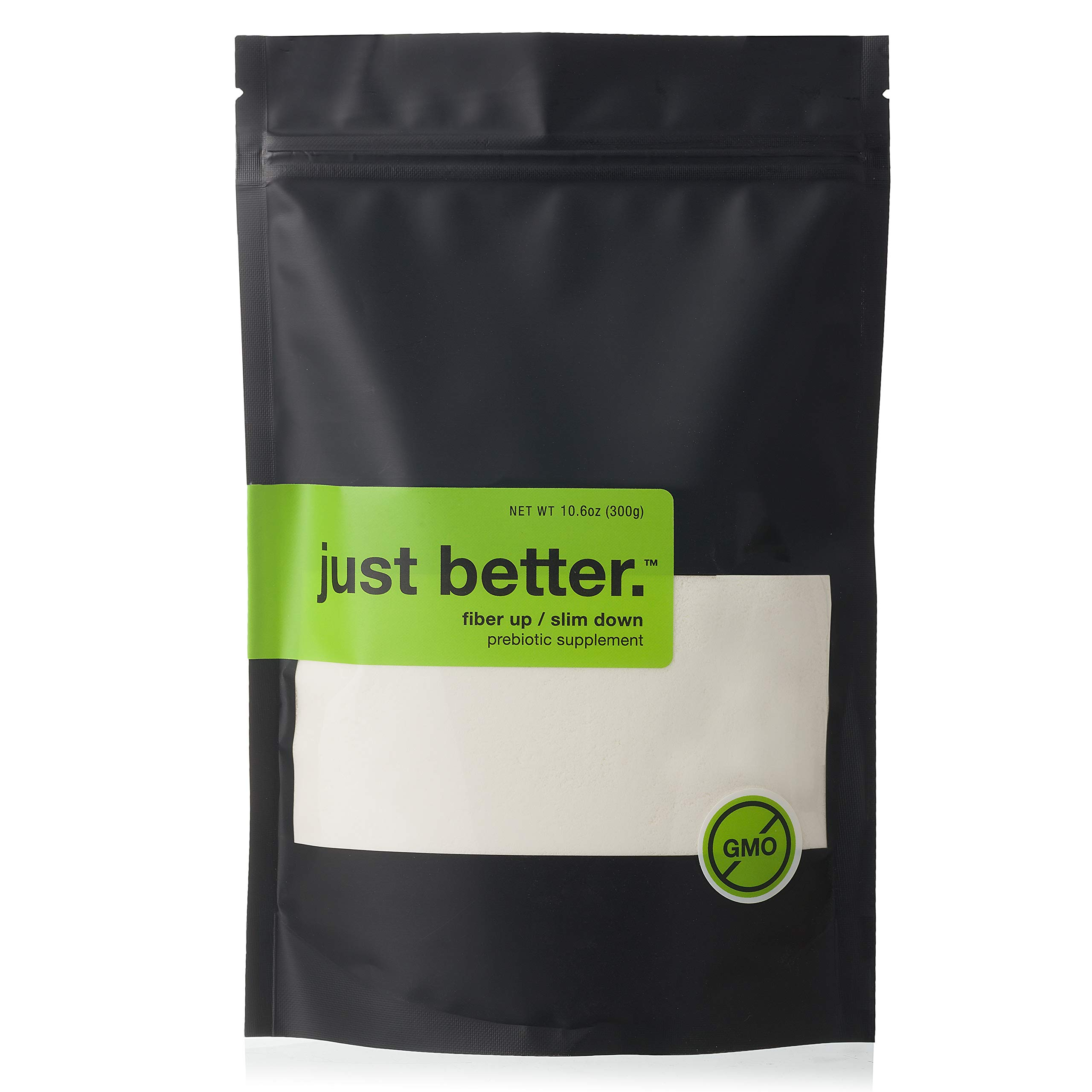 Just Better. Prebiotic Fiber Supplement Powder - 50 Serving (300g) Pouch