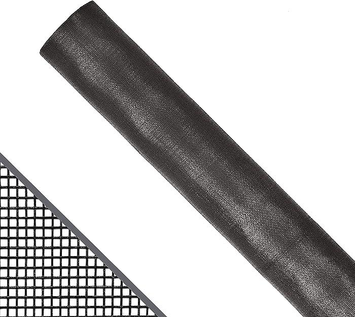 ADFORS 36 in. x 100 ft. DIY Fiberglass Window Screen Replacement || Screen Door || Screen Repair Kit || Adjustable Window Screen || Bug Screen || Screen Mesh || Insect Screen Material || Charcoal