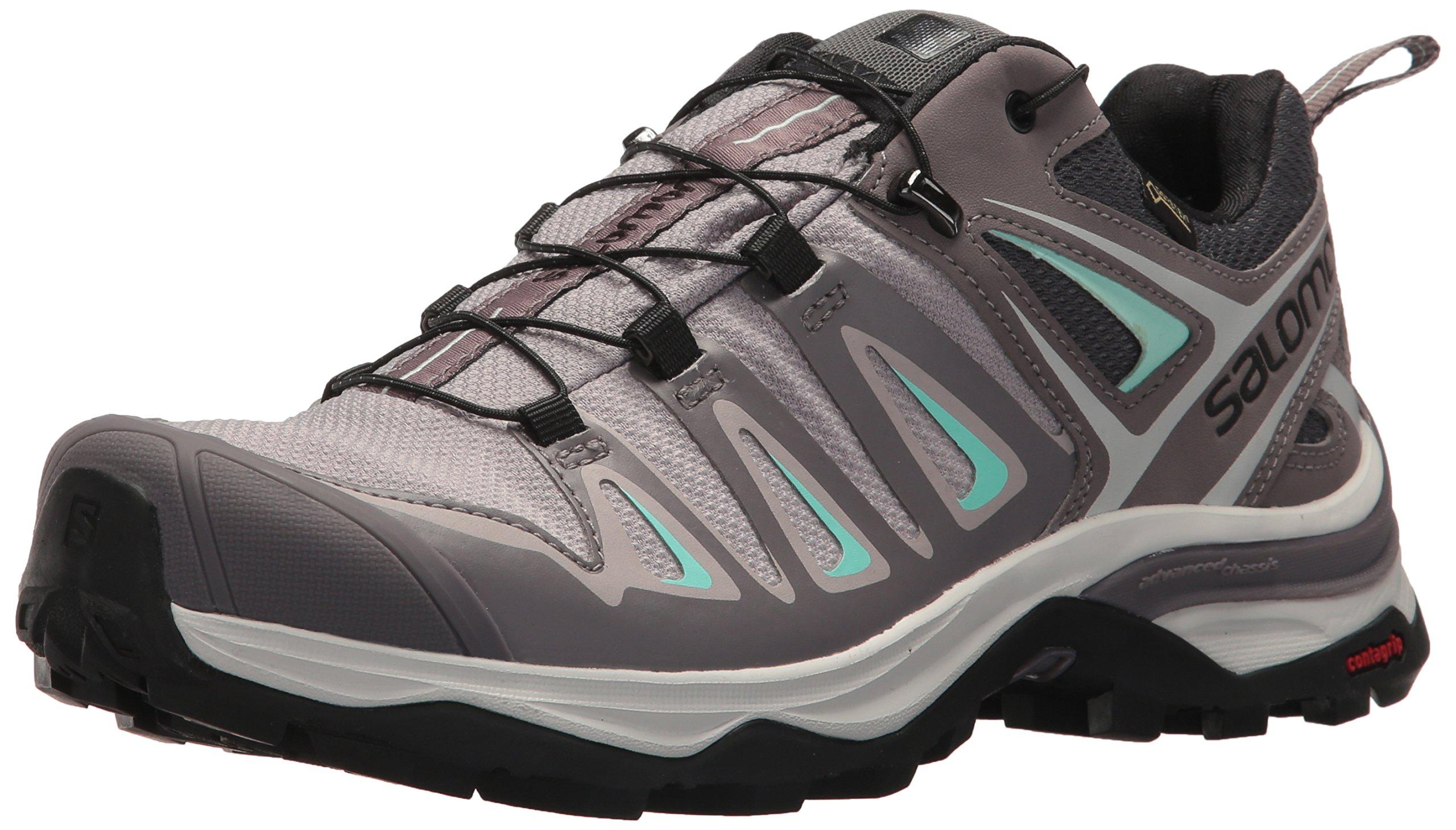 Salomon Women's X Ultra 3 GTX Trail Running Shoe, Magnet, 5 M US