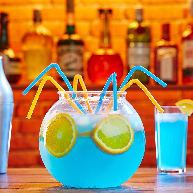 4 Cuencos Grandes de 2,5 Litros para cóctel, Peceras - Peceras de plástico para para Ponches/bebidas, Globos: Amazon.es: Hogar