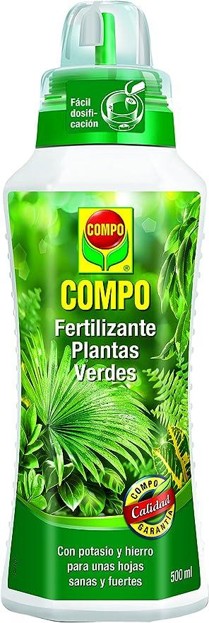 Oferta amazon: Compo 500 ml Verdes para Plantas de Interior, balcón y terraza, Fertilizante líquido con Extra de potasio y Hierro