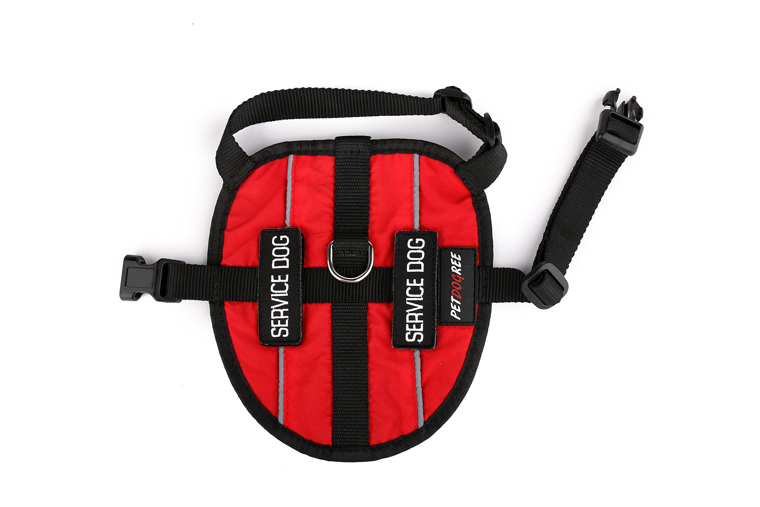 Petdogree Lightweight Reflective Red Service Dog Vest/Harness with Removable Patches (Various Sizes). by Petdogree (Image #5)