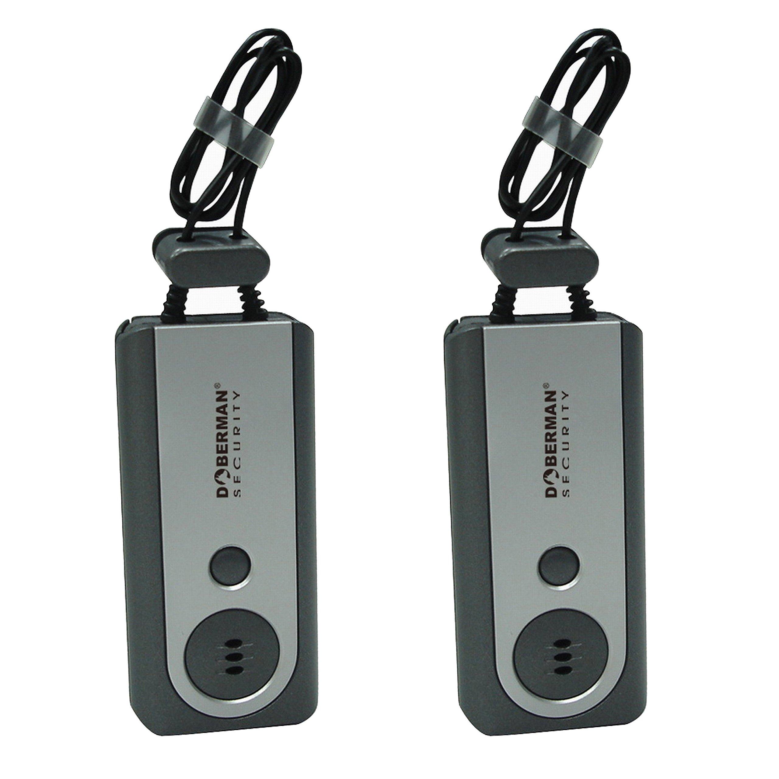 Doberman Security Portable Door Alarm with Flash Light, 2 alarms