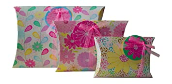 Amazoncom Gift Wrapping Box Pillow Pouch Set Of 3 Large Medium