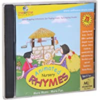 Animated Nursery Rhymes CD - Collection Of 25 All Time Great Rhymes At An Effortable Price -More Magic More Fun for Kids