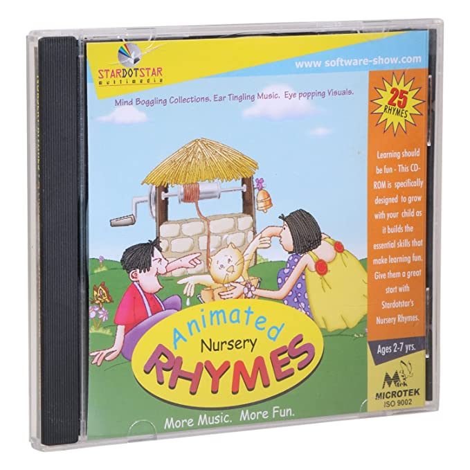 Animated Nursery Rhymes CD - Collection Of 25 All Time Great